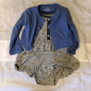 Carter Girls cardigan and dress